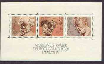 Germany - West 1978 Nobel Prize Winners (Literature) m/sheet unmounted mint, SG 1853