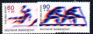 Germany - West 1979 Sport Promotion Fund set of 2 unmounted mint, SG 1890-91