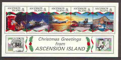 Ascension 1993 Christmas (Aircraft etc) perf m/sheet unmounted mint, SG MS 613