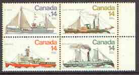 Canada 1978 Canadian Ships (4th series) se-tenant block of 4 unmounted mint, SG 931a