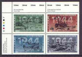 Canada 1994 50th Anniversary of Second World War (6th series - 1944) se-tenant block of 4 unmounted mint, SG 1621a