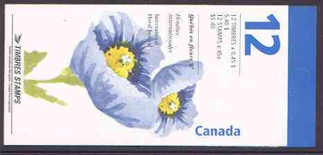 Booklet - Canada 1997 Quebec in Bloom  $5.40 booklet complete and pristine, SG SB213