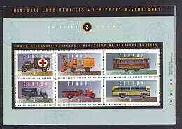 Canada 1994 Historic Automobiles (2nd series) perf m/sheet in special presentation pack, SG MS 1611