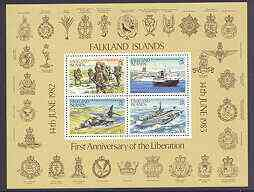 Falkland Islands 1983 First Anniversary of Liberation m/sheet unmounted mint, SG MS 458