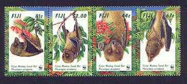 Fiji 1997 WWF - Monkey-faced Bat set of 4 unmounted mint, SG 986-89