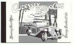 Booklet - Guernsey 1994 Classic Cars \A37 booklet complete and pristine SG B53