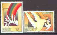 Malta 1995 Europa (Peace & Freedom) set of 2 unmounted mint, SG 987-88*