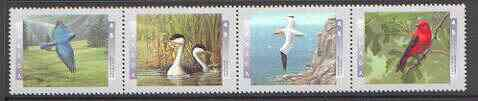 Canada 1997 Birds - 2nd series se-tenant strip of 4 unmounted mint, SG 1717a