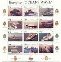 British Indian Ocean Territory 1997 Ocean Wave sheetlet containing set of 12, unmounted mint SG 202a