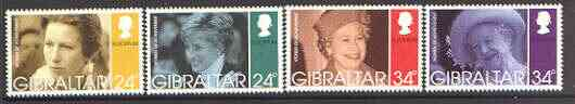 Gibraltar 1996 Europa (Famous Women - Royals) set of 4 unmounted mint, SG 767-70*