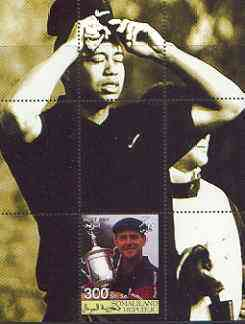 Somaliland 2001 Tiger Woods (& Payne Stewart) perf m/sheet #03 (300s value) unmounted mint