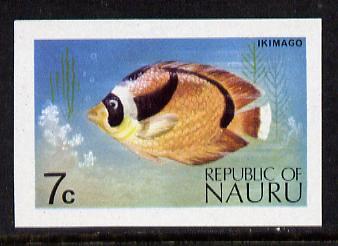 Nauru 1973 Fish 7c definitive (SG 104) unmounted mint IMPERF single