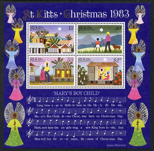 St Kitts 1983 Christmas m/sheet unmounted mint, SG MS 138
