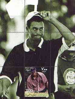 Somaliland 2001 Tiger Woods perf m/sheet #08 (700s value) unmounted mint