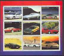 Dagestan Republic 2000 Modern Sports Cars perf sheetlet containing set of 9 values unmounted mint