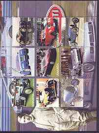 Udmurtia Republic 2000 Bugatti Cars perf sheetlet containing set of 9 values unmounted mint