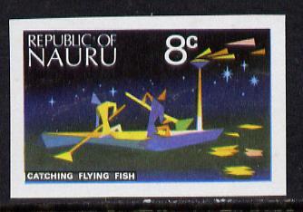 Nauru 1973 Catching Flying Fish 8c definitive (SG 105) unmounted mint IMPERF single