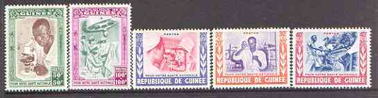Guinea - Conakry 1960 National Health set of 5 unmounted mint, SG 236-40*