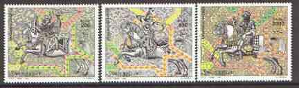 Somalia 1999 Arab Knights on Horseback perf set of 3 unmounted mint*