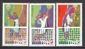 Somalia 1999 Tennis perf set of 3 unmounted mint*