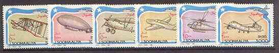 Somalia 1993 Aviation set of 6 unmounted mint, Mi 485-90*