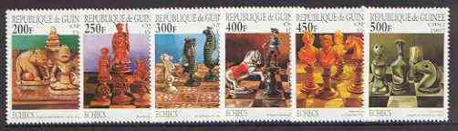 Guinea - Conakry 1997 Chess complete perf set of 6 unmounted mint*