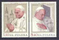 Poland 1979 Visit of Pope John Paul II set of 2 unmounted mint, SG 2616-17*