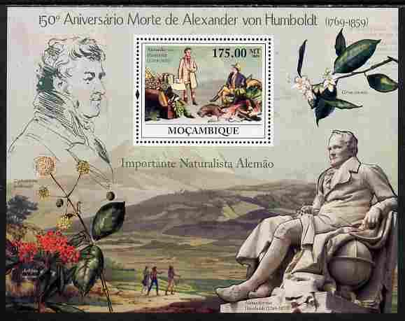 Mozambique 2009 150th Death Anniversary of Alexander von Humboldt perf s/sheet unmounted mint