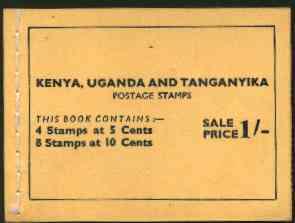 Booklet - Kenya, Uganda & Tanganyika 1954 1s booklet complete containing panes of 5c (Dam) & 10c (Giraffe) SG SB6