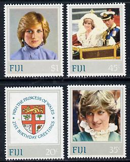 Fiji 1982 21st Birthday of Princess of Wales perf set of 4 unmounted mint, SG 640-3