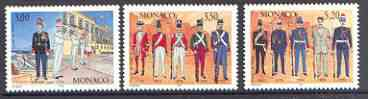 Monaco 1997 Palace Guard set of 3 unmounted mint SG 2322-24