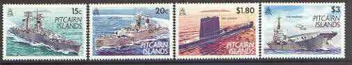 Pitcairn Islands 1993 Modern Navy set of 4 unmounted mint SG 426-29*
