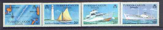 Turks & Caicos Islands 1978 Turks Island Passage no wmk set of 4 unmounted mint SG 489A-92A