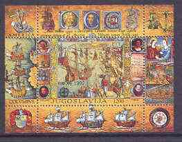Yugoslavia 1992 Europa - 500th Anniversary of Discovery of America by Columbus m/sheet unmounted mint SG MS 2787