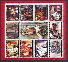 Udmurtia Republic 2000 NASCAR perf sheetlet containing set of 12 values unmounted mint