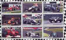 Tatarstan Republic 2000 Formula 1 perf sheetlet containing set of 9 values unmounted mint
