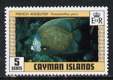 Cayman Islands 1979 Angelfish 5c with wmk sideways inverted unmounted mint (SG 485w) gutter pairs price x 2
