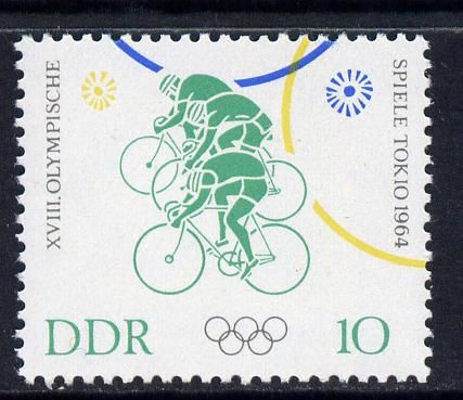 Germany - East 1964 Cycling 10pf from Tokyo Olympic Games set unmounted mint, SG E763