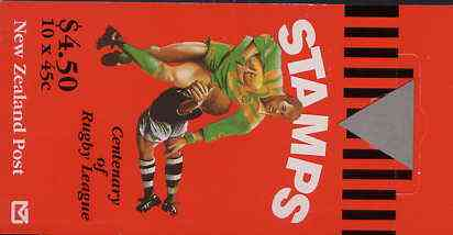 Booklet - New Zealand 1995 Centenary of Rugby League $4.50 booklet complete, SG SB73