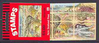 Booklet - New Zealand 1996 Seaside Environment $4 self-adhesive booklet complete, SG SB80