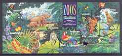 Australia 1994 Zoos m/sheet with Stamp Show