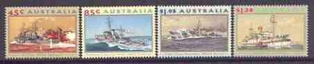 Australia 1993 Second World War Naval Vessels set of 4 unmounted mint, SG 1397-1400*