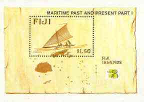 Fiji 1998 Maritime Past & Present (1st series) m/sheet unmounted mint, SG MS 1035
