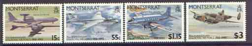Montserrat 1993 75th Anniversary of Royal Air Force set of 4 unmounted mint, SG 922-25