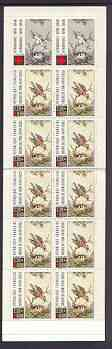 Booklet - France 1989 Red Cross (Bird Feeding Chicks) 28f Booklet complete and prtistine SG XSB39