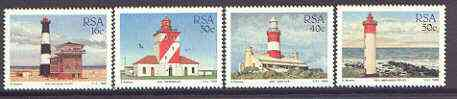 South Africa 1988 Lighthouses set of 4 unmounted mint, SG 649-52