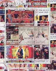 Congo 2000 Marilyn Monroe perf sheetlet #1 containing 9 values (Film posters) unmounted mint
