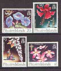 Pitcairn Islands 1994 Christmas Flowers set of 4 unmounted mint, SG 458-61