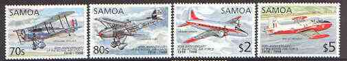 Samoa 1993 80th Anniversary of Royal Air Force set of 4 unmounted mint, SG 1029-32