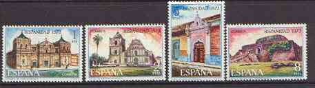 Spain 1973 Spain in the New World (2nd series - Buildings) set of 4 unmounted mint, SG 2212-15
